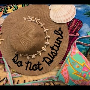 43b144c6f NWT WIDE BRIMMED EMBROIDERED SAYINGS BEACH HATS Boutique